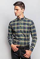 Рубашка с длинным рукавом 371F001 (Сине-зеленый)