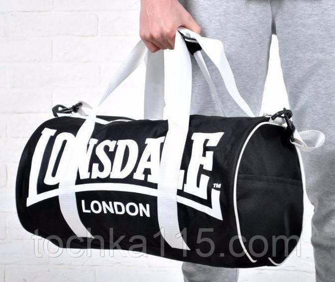 Сумка спортивная сумка lonsdale london, сумка лондон черный