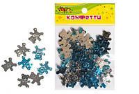 """Конфетти из фольги """"Мишки"""", блестят большие, 10гр голубые+серебро KIDIS"""