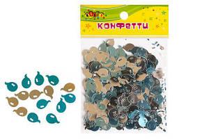 "Конфетти из фольги ""Шарики"", блестят маленькие, 10гр голубой+серебро KIDIS"