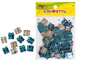 "Конфетти из фольги ""Подарки"", блестят №2, 10гр голубой+серебро KIDIS"