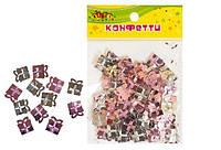 "Конфетти из фольги ""Подарки"", блестят №2, 10гр розовый+серебро KIDIS"