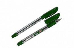 Ручка шариковая KRISH SGмасляная зелёная корпуспрозрачный