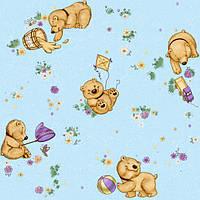 """Обои рулонные бумажные детские """"Мишутка 1105 ТМ Континент (Украина) 0,53*10,05"""