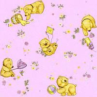 """Обои рулонные бумажные детские """"Мишутка 1106 ТМ Континент (Украина) 0,53*10,05"""