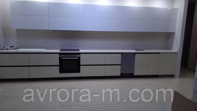 Кухни с крашенными фасадами МДФ