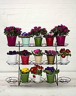 Кованая подставка для цветов Фиалка 15 оконная