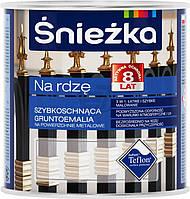 Грунт-эмаль по металлу Na rdze молотковая Sniezka серый шелковистый глянец 0,65л