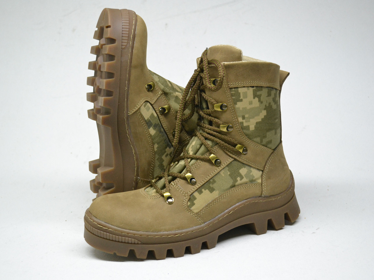 Тактические ботинки из натуральной кожи РА - Стронг БЕЖ