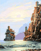 Картина своими руками Мостик на остров (VP857) 40 х 50 см