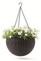 Горшок для цветов Rattan style hanging sphere planter
