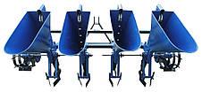 Чеснокосажалка 4-х рядная для минитрактора (с возможностью посадки лука), фото 3
