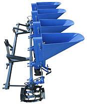 Чеснокосажалка 4-х рядная для минитрактора (с возможностью посадки лука), фото 2