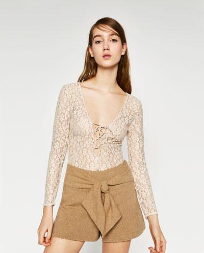 Новое кружевное боди Zara
