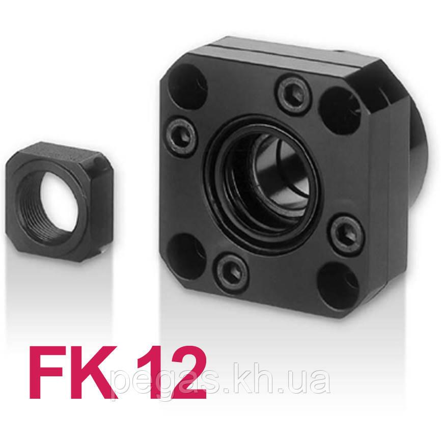 Концевая опора FK12, опора ШВП фланцевая FK12