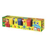 Пальчиковые краски - МОИ ПЕРВЫЕ РИСУНКИ (4 цвета, в пластиковых баночках) ТМ Ses Creative 0305S