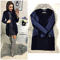 Пальто кашемировое, модель 799, цвет - темно синий