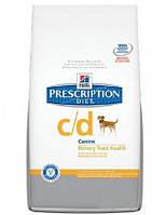 Корм лечебный Hills (Хилс) Prescription Diet Canine c/d для собак лечение и профилактика струвитных уролитов, 12 кг