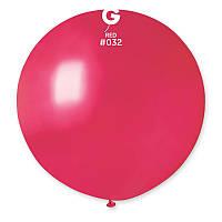 """Воздушный шар гигант металлик красный 31"""" (80 см) Gemar"""
