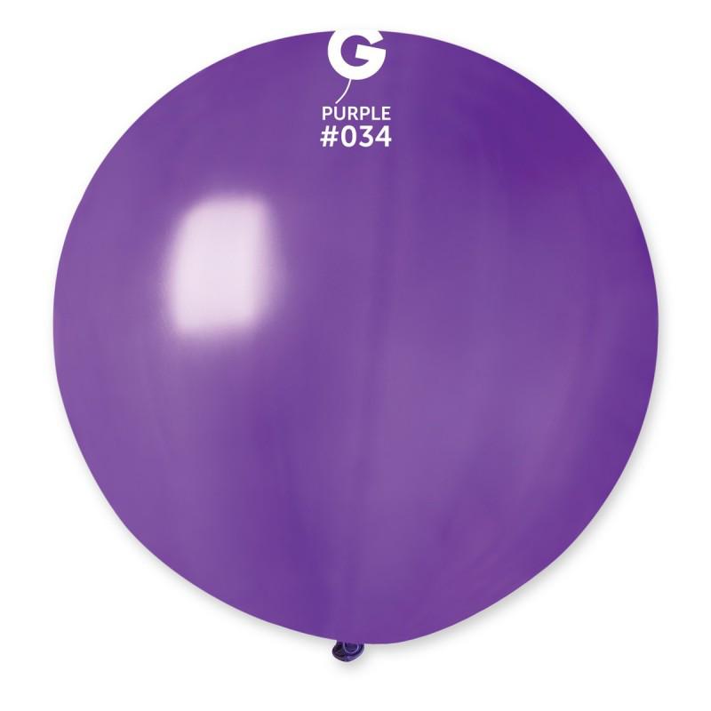"""Воздушный шар гигант металлик фиолетовый 31"""" (80 см) Gemar"""