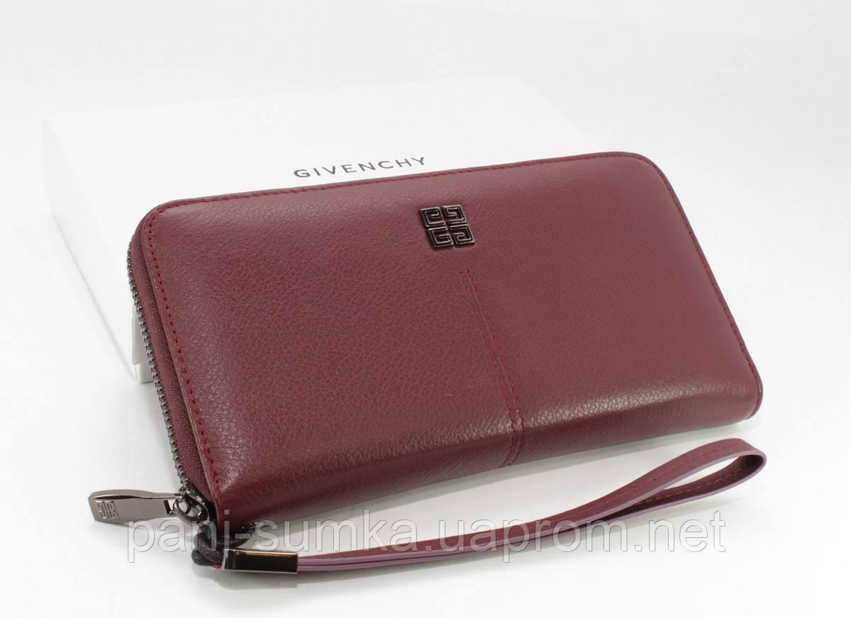 867cc8163e8b Кошелек женский кожаный на молнии Givenchy 6288 бордовый - Интернет магазин
