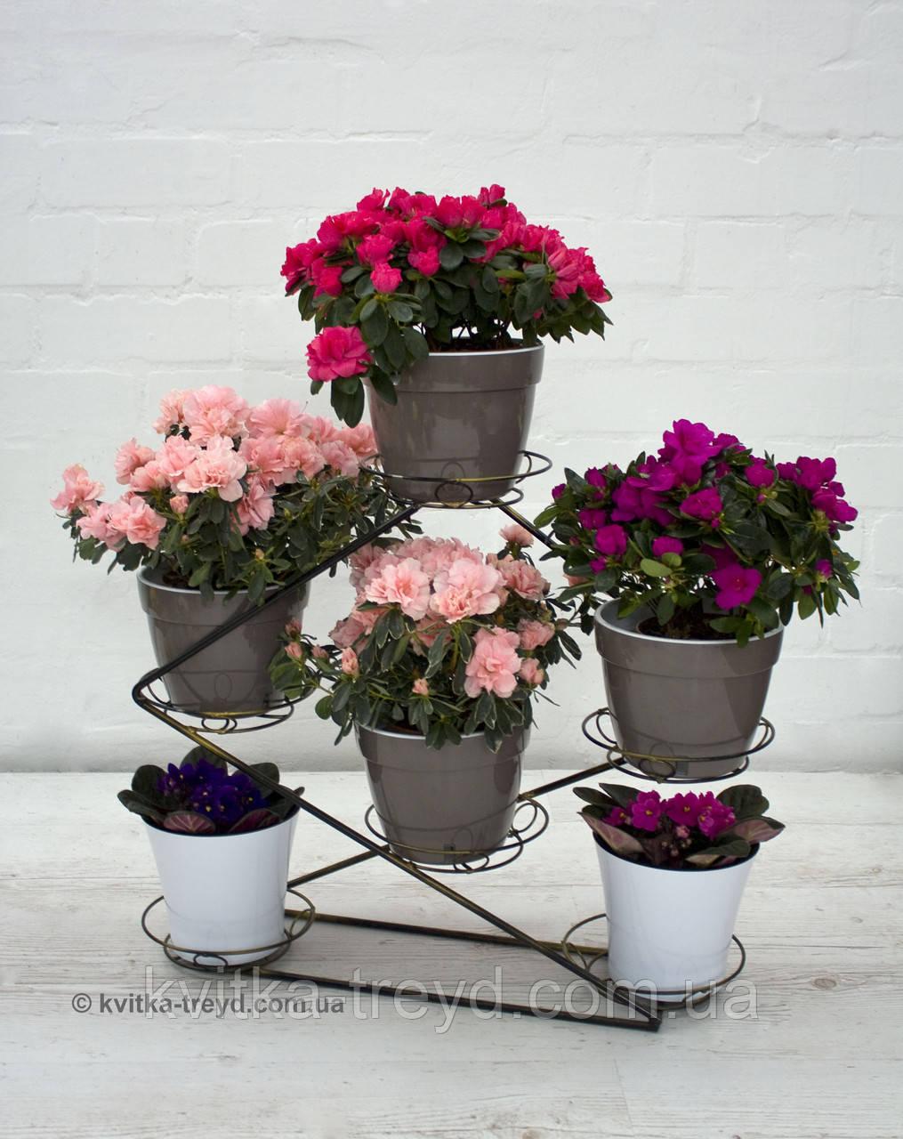 Кованая подставка для цветов Инь Янь