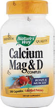 Nature's Way, Комплекс магния, кальция и витамина D, 100 капсул
