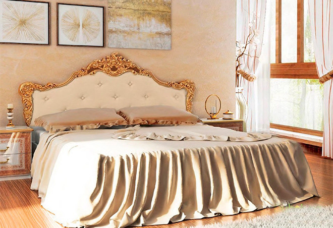 Ліжко з ДСП/МДФ в спальню Дженніфер 1,6х2,0 м'яка спинка з каркасом Миро-Марк