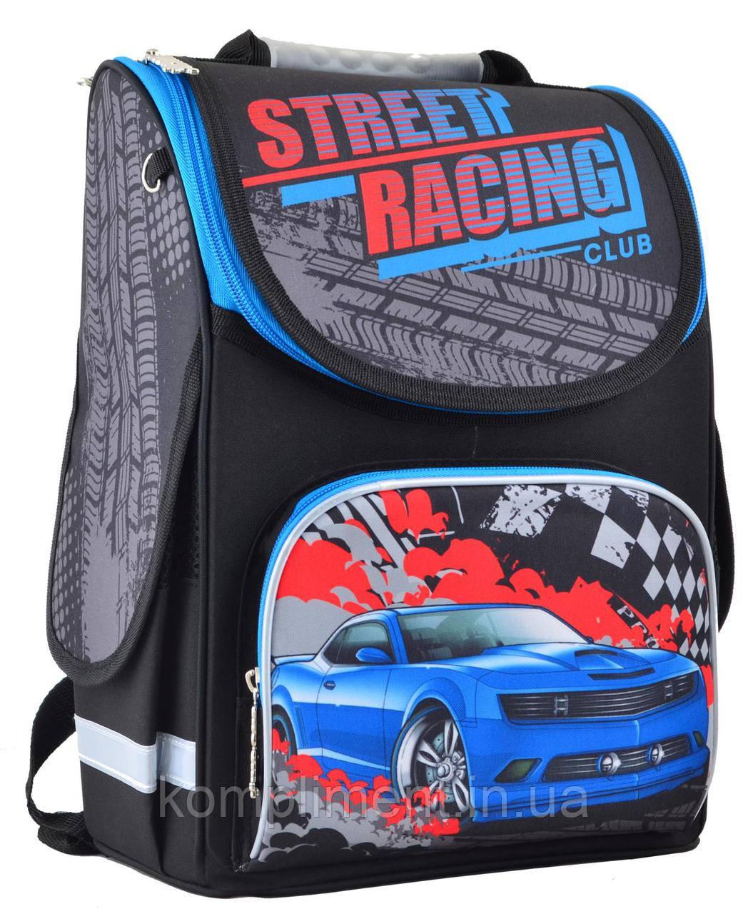 Рюкзак каркасный ортопедический  для мальчика  PG-11 Street racing , SMART