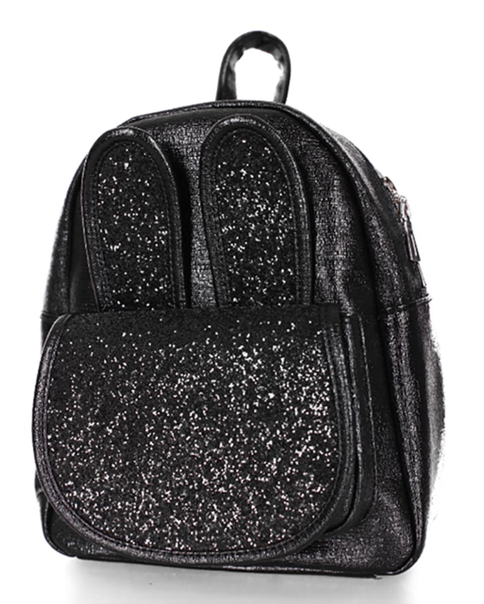 520bae895895 Рюкзак для девочек маленький модный черный с блестками - Интернет-магазин  женских сумок в Черновцах