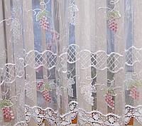 Тюль арка с вышивкой для карниза 1,5-2,2м