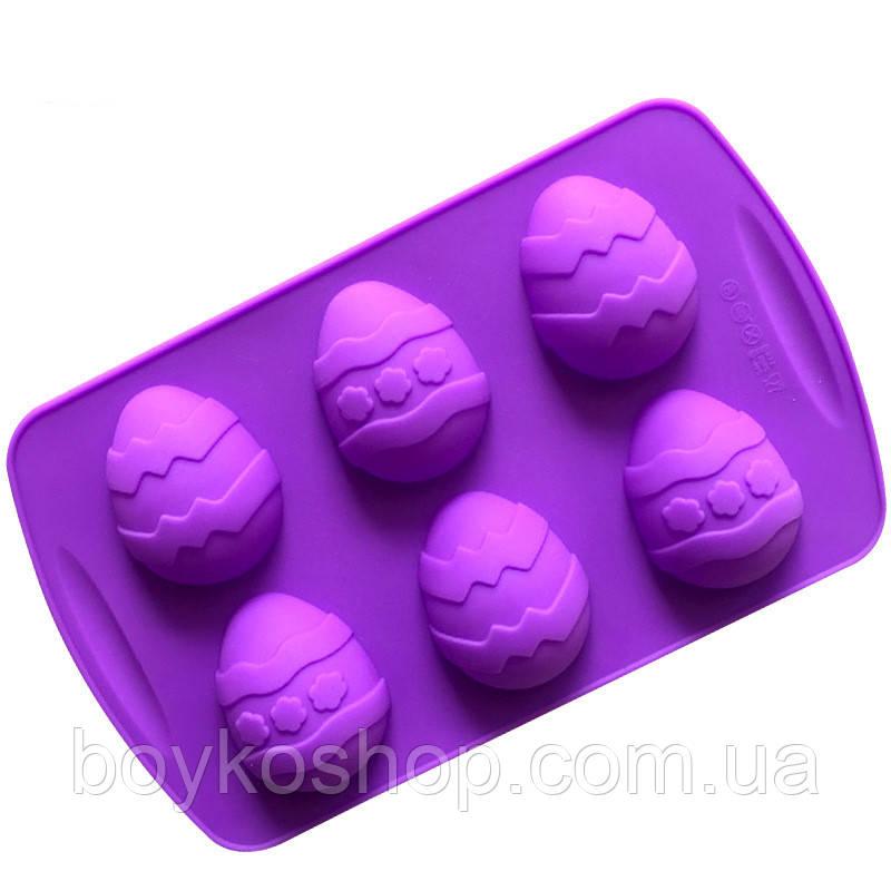 Форма силиконовая яйцо 6шт