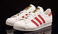Женские бело-красные кроссовки Adidas Stan Smith 31