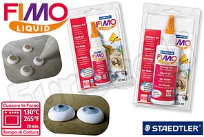 Фимо Гель FIMO Liquid жидкая пластика гель,клей прозрачный,15 мл пробник