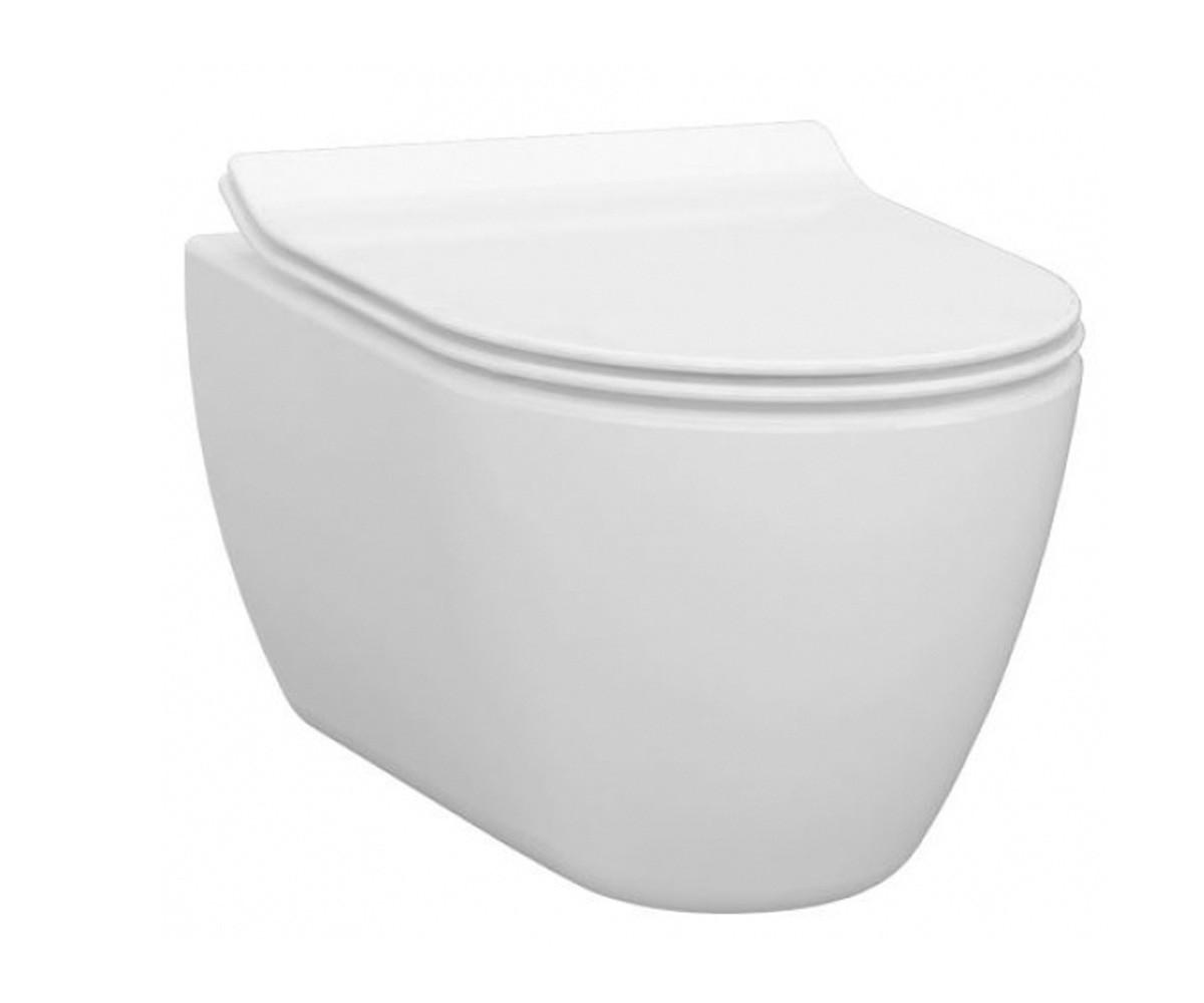 Чаша підвісного безободкового унітазу IDEVIT Alfa Iderimless (3104-2616) білий, без сидіння