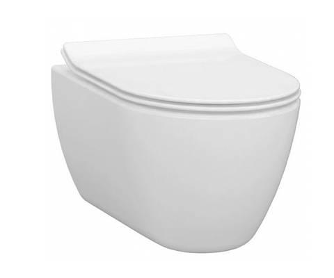 Чаша подвесного безободкового унитаза IDEVIT Alfa Iderimless (3104-2616) белый, без сидения