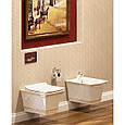 Биде подвесное IDEVIT Neo Classic (3306-0605-0088) белый/декор золото, фото 3