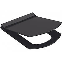 Сиденье, крышка для унитаза IDEVIT Vega Soft Close Slim (53-02-06-004) черный