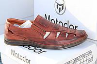Летние мужские туфли из натуральной кожи на резинке Matador S 02 кор