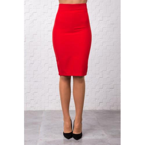 9fe5a29fce88 Модная красная юбка-карандаш с молнией сзади - купить по лучшей цене в  Хмельницком ...