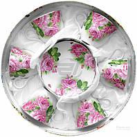 Сервиз для чая Пионы 12 предметов на 6 персон 21-245-005 Оселя
