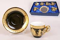 Сервис чайный  фарфоровый  подарочный 12 предметов  6 видов сервизов