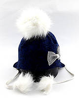 Детская шапка ушанка с 48 по 52 размер детские шапки пампонами головные уборы
