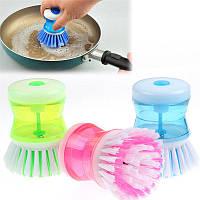 Губка с дозатором для мытья посуды