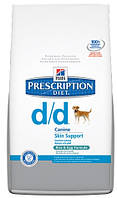 Корм лечебный Hills (Хилс) Prescription Diet Canine d/d для собак с чувствительным пищеварением лосось с рисом, 2 кг