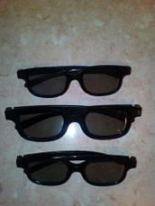 3Д очки для кинотеатров детские и взрослые, Поляризационные 3D очки Black Movie для ТВ 3d, фото 3