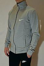 Чоловічий спортивний костюм Nike (Найк) | трикотаж, двухнитка, розміри: 44-54, світло-сірий / чорний, фото 3