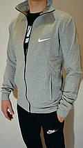 Чоловічий спортивний костюм Nike (Найк) | трикотаж, двухнитка, розміри: 44-54, світло-сірий / чорний, фото 2