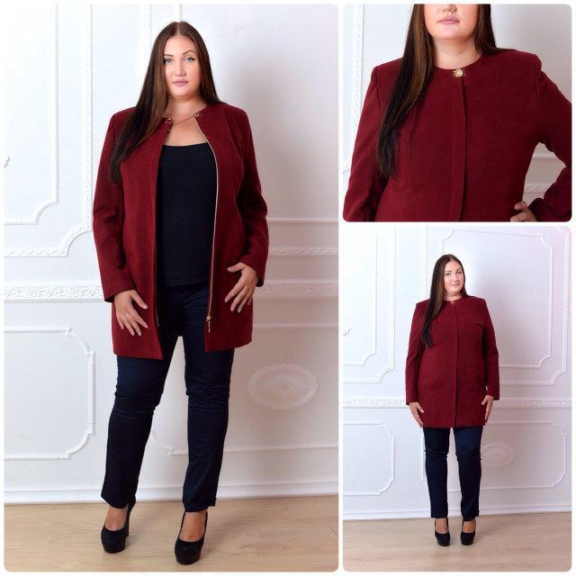 Пальто кашемировое, модель 739/2, цвет - бордо