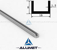 Швеллер алюмниевый 10х8х1.5 мм анодированный